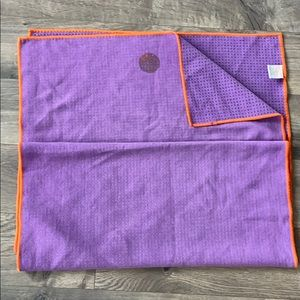 Manduka skidless yogi toes- purple w/ orange trim